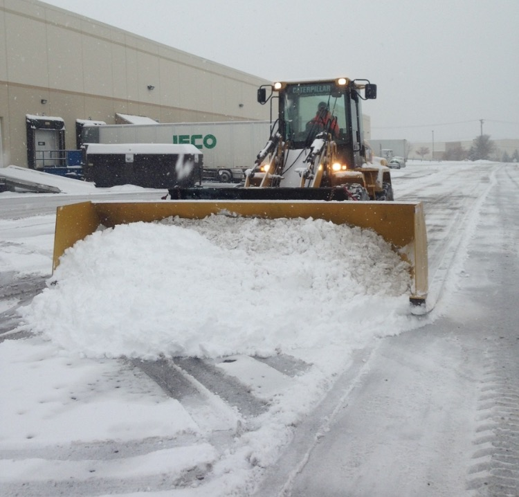 Snow removal by TGG Landscape Construction